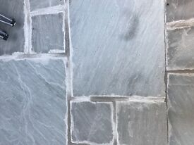 Indian sandstone patio paving slabs - approx 12sq m