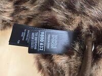 BRAND NEW Marks and Spencer (M&S) Leopard Print Faux Fur Ear Muffs