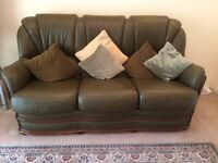 Sofa - beautiful 3 seater + 2 Armchairs + 2 Footstools - with fire compliance label