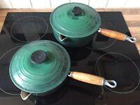 Two Vintage Le Creuset Saucepans