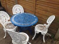 Cast alloy patio set / bistro set £100