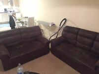 Sofa 3 and 2 seater Suede