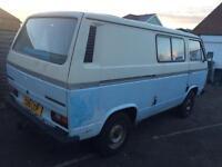 Volkswagen transporter camper van 2,0petrol 1986 c reg low miles mot expired