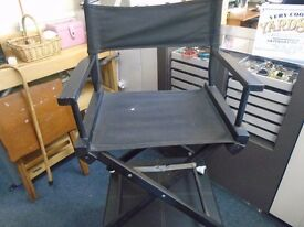 fold away directors style chair.