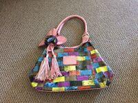 Pretty pastel coloured handbag