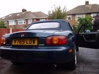 Mazda MX5 1.8 1999 mohair hood, hardtop, full MOT