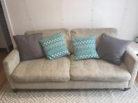 Great 3 seater sofa and matching footstool