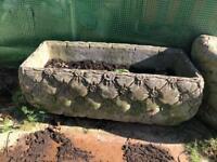 vintage large concrete planter pot garden ornament
