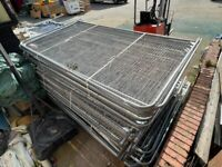 Pre-owned Heras Fencing Panels set - 3.45m x 2m panels