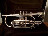 Bach Stradivarius 184ML silver plate cornet