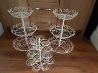 Cupcake stands, cream- £15 for all but willing to sell separately