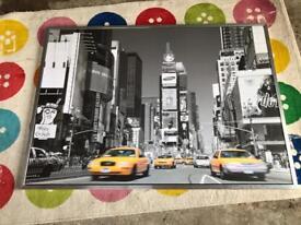 Large funky ikea New York print