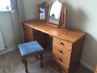 Dressing Table with Mirror & Stool