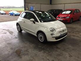 2010 fiat 500 lounge 1.2cc 1 owner full mot guaranteed cheapest in country