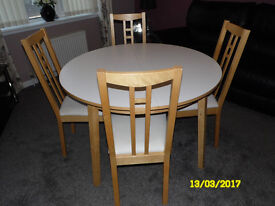 Ikea Extendable Table & 6 Chairs, Great Condition