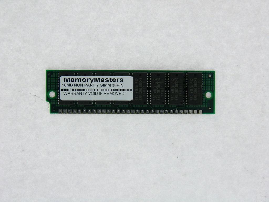 32MB 2X16MB FPM NON-PARITY 60NS SIMM 30-PIN 5V 16X8 TESTED