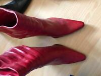Red boots size 4