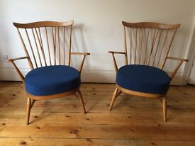 Vintage Mid Century Ercol Goldsmith Armchairs x 2 Available - £250 EACH - Reupholstered Rare