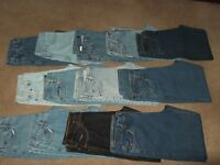 13 pairs of good quality mens jeans,used but in great condition