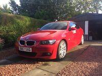 BMW 320 M Sport red low Mileage, excellent condition. 10 months MOT