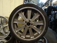 "SET OF 20"" 5x112 alloys 255 35b 20s on back 6mm tread and 225 30 20s front 6mm LOADS MORE AV"