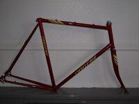 Vintage 1980s Challenge 62cm steel road frame & forks