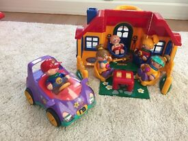 House, Car, Figures and Furniture