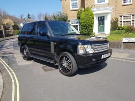"2004 RANGE ROVER VOGUE TD6 AUTOMATIC BLACK FULL LEATHER 22"" ALLOYS 12 MONTHS MOT"