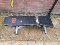 Gym bench with incline and decline