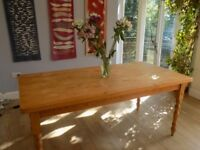 Large Pine Dining Room/Kitchen Table- Seat 6/8 with ease