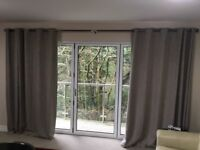 Lined Fawn large Curtains
