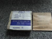 Lenses by British Optical Co. New Unused.