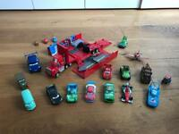 Various toy cars from the movie Cars