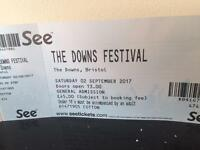 The Downs Festival 2 tickets for sale £50 each face value.