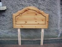 3ft antique pine head board