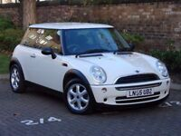 AA WARRANTY!!! WHITE 2005 MINI ONE 1.6 3dr, 1 YEAR MOT,