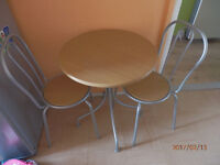 SMALL TABLE AND TWO CHAIRS EXCELLENT CONDITION!!!