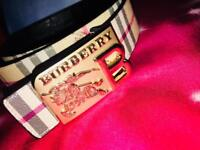 Burberry Gold buckle brand New belt leather