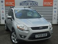 Ford Kuga ZETEC TDCI 2WD (STUNNING CAR) FREE MOT'S AS LONG AS YOU OWN THE CAR!!! (silver) 2009
