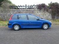 2003 PEUGEOT 206 1.4 LX ESTATE - 85000 MILES - LOVELY CAR TO DRIVE !! - BARGAIN !!