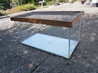 Large glass tank