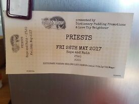 'Priests' ticket Friday 26th May @ Hope and Ruin, Brighton
