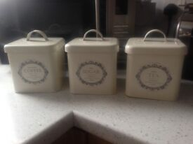Tea, coffe and sugar canisters