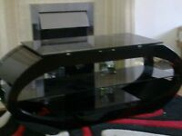 tv stand unit black