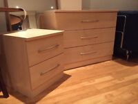 Chest of drawers and Bedside table set - like new!