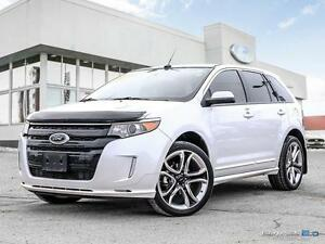 2014 Ford Edge 264 B/W, Sport, AWD. MOONROOF, LEATHER