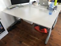 2 X WHITE OFFICE DESKS - GREAT CONDITION FREE