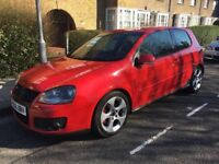 VW GOLF GTI 2006 red manual 3 door petrol low mileage stunning!!!!!!