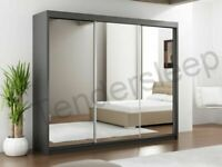 📯BRAND NEW LUX 3 SLIDING DOORS WARDROBE IN 250CM SIZE & IN MULTI COLORS-ORDER NOW📯