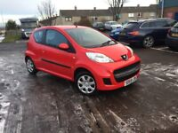 IDEAL CAR FOR NEW DRIVERS-2009 PEUGEOT 107 URBAN 1.0PETROL-COMES WITH FULL YEAR MOT+3 MONTH WARRANTY